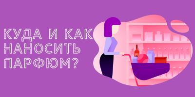 Куда и как наносить парфюм?
